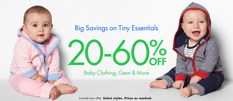 20-60% off Baby Clothing, Gear and More on Amazon!